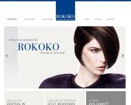 Bild Webseite Friseur Rokoko Nürnberg