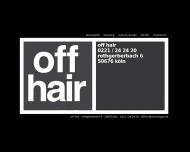Bild Webseite Off Hair, Frank Werner Friseursalon Köln