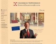 Bild Webseite CHANDJIAN Teppichhaus München