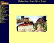 Bild Webseite  Harzgerode