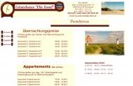 Website Gästehaus Die Insel