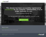 This domain has been registered for a customer by nicsell