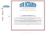 Bild Webseite Gaststätte Restaurant - Zur Schanze Inh. Katrin Naumann Dresden