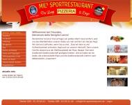 Bild Webseite MIL'S SPORTRESTAURANT da LUIGI & ENZ0 München