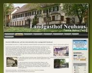 Website Gasthof Neuhaus