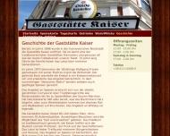 Website Gaststätte Kaiser Gastronomie