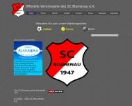 Bild Webseite Gaststätte Restaurant - SC Blumenau Mannheim