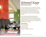 Bild Webseite Kümmelkopp Restaurant und Bierstube Neumann-Bonowitz u. Wagner Bochum