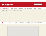 Website MAREDO Steakhouse Dortmund
