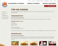 Bild Webseite Burger King Frankfurt