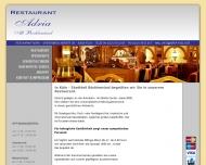 Bild Webseite Restaurant Adria Köln