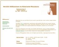 Bild Webseite Ristorante Mezzaluna Gastronomie Frankfurt