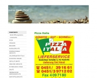 Bild Webseite Pizza Italia Lübeck