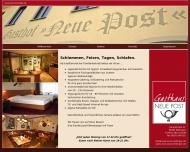 Website Gaststätte Restaurant - Neue Post