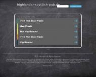 Bild Webseite The Highlander Nürnberg