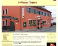 Bild Webseite Höfener Garten Nürnberg