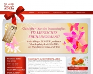 Bild Webseite Gaststätte Restaurant - Adria Karlsruhe