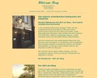 Bild Webseite Gaststätte Restaurant - Wirt am Berg Stuttgart