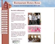 Bild Webseite Gaststätte Zum Roten-Ross Spalt