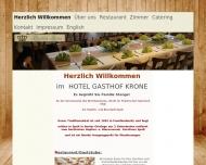 Bild Webseite Gasthof Krone Spalt