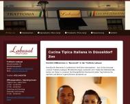Bild Webseite Trottoria Labsaal Restaurant Düsseldorf