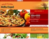Bild Webseite Gaststätte Restaurant - PIZZERIA BELLA CAPRI Düsseldorf