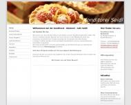 Bild Webseite Cafe Seidl Eiskonditorei München