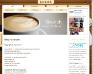 Website Café Lucas Nürnberg