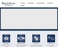 Bild Webseite BaronGeisler Management Dresden