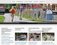 Website Berggasthof-Café - Bergkristall