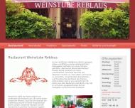 Bild Webseite Restaurant Weinstube Reblaus Berlin