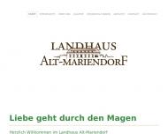 Bild Webseite Restaurant Landhaus Alt-Mariendorf Berlin