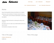 Bild Webseite Zum Falkenstein Inh. Esther Hasselwander Restaurant Hamburg