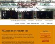Bild Webseite Mainzer Hof Kneipe - Restaurant Köln