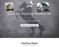 Bild Webseite Gaststätte Rössle Restaurant Stuttgart