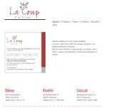 Bild Webseite La Coup Friseurbetriebe Hannover