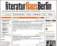 Bild Webseite Cafe im Literaturhaus Berlin
