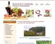 Website Försters Stammlokal
