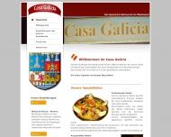 Bild Webseite Casa Galicia Düsseldorf