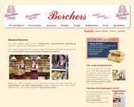 Bild Webseite Bäckerei - Konditorei - Bistro - Borchers Hannover