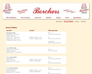 Website Bäckerei - Konditorei - Bistro - Borchers
