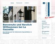 Bild Webseite La Gazzetta Restaurant Dortmund
