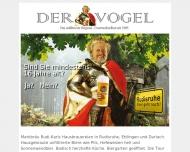 Bild Webseite Vogelbräu Karlsruhe