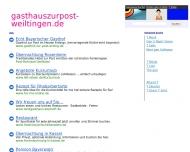 Bild Webseite Zur Post Weiltingen
