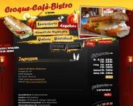 Website Croque Cafe Bistro