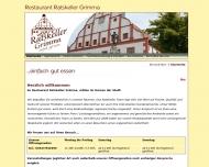 Website Gaststätte Restaurant - Ratskeller Grimma