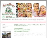 Bild Webseite San Marino Restaurant Bonn