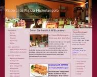 Website Gaststätte Restaurant - Ristorante Piazza Michelangelo