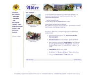 Website Adler Gasthof und Pension