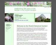 Bild Webseite Café im Botanischen Garten München